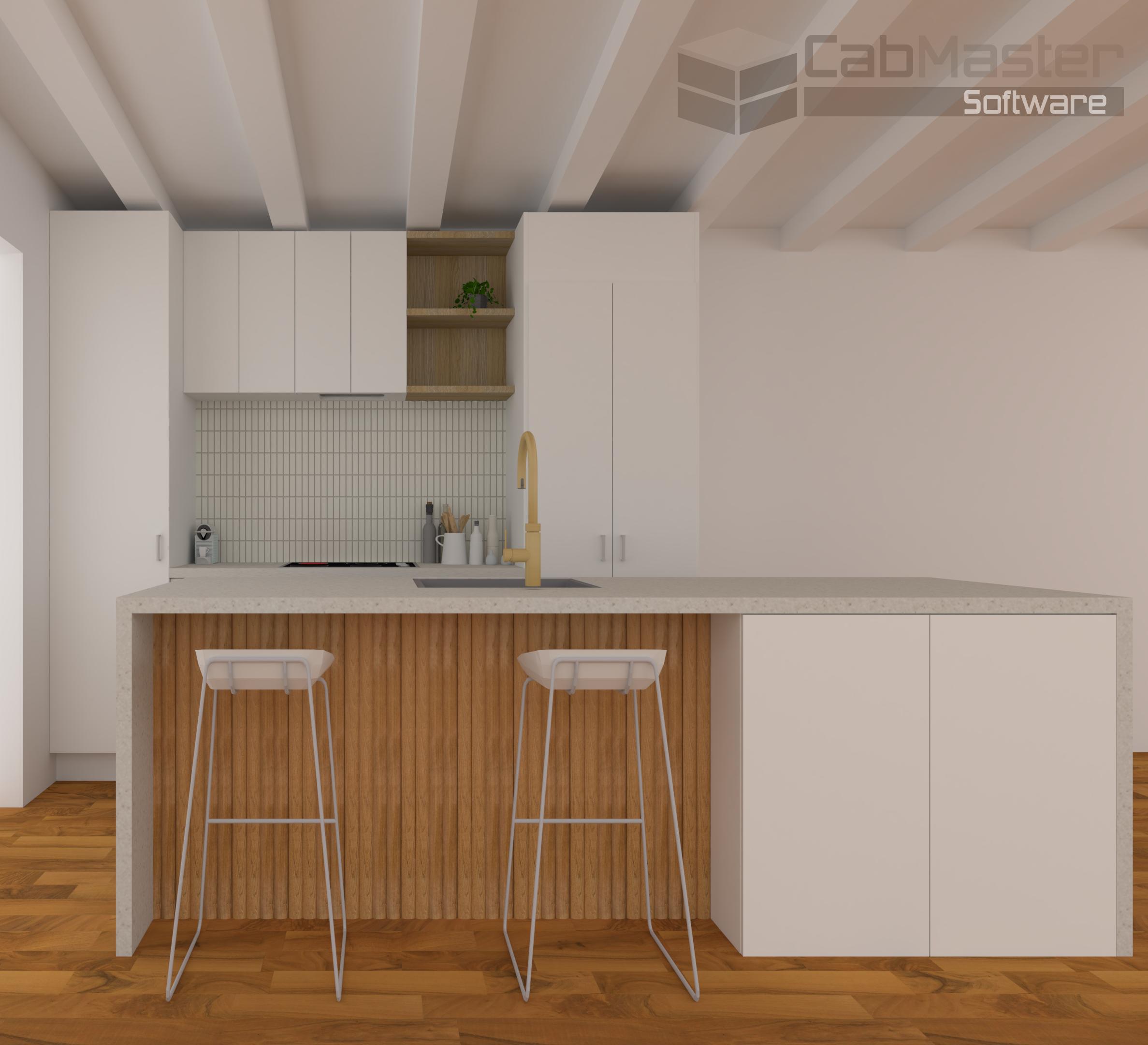 Sample Kitchen Render Timber