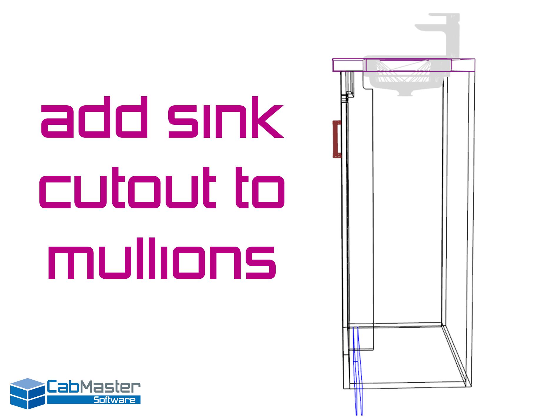 Sink Cutouts in Mullions