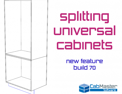 Splitting Universal Cabinets – New Feature Build 70