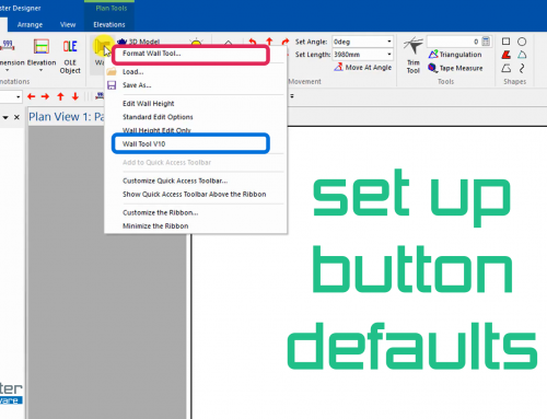 Setting Up Button Defaults