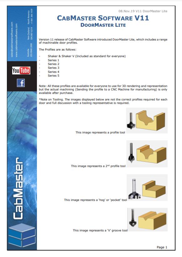 DoorMaster LT Brochure